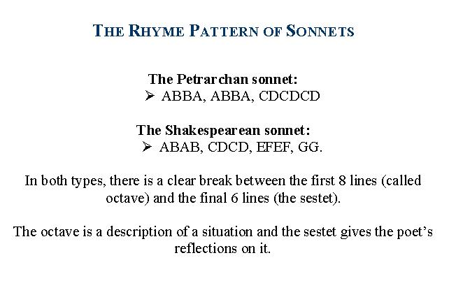 Sonnet Examples: The Development of the Form of Sonnets ...