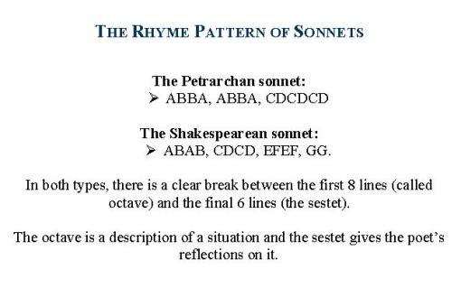 italian sonnet: